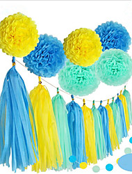 Birthday Party Wedding Decoration Paper Flower Ball Paper Tassel 1 Set