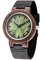 Hombre Reloj Deportivo Reloj de Moda Reloj de Pulsera Reloj creativo único Reloj Casual Reloj Madera Cuarzo de madera Cuero Auténtico