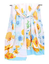 Women's Chiffon Fashion Cute Blue Black White Pink Spring Summer Fall Winter All Seasons Scarf