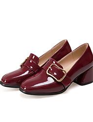 Women's Loafers & Slip-Ons Gladiator Leatherette Fall Casual Office & Career Dress Gladiator Block Heel Burgundy Black Flat