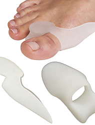 1 Pair Silicone Feet Care Toe Separator Big Toe Bone Bunion Shield Hallux Valgus Splint Spreader Pro Protector Corrector Alignment Foot Pedicure Tool