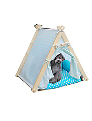Cat Dog Bed Pet Baskets Polka Dot Keep Warm Adjustable/Retractable Soft Tent Orange Blue