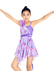 MiDee Ballet Dancewear Adults' Children's Floral Printed Dropping Ruffles Lyrical Dress