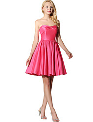 Vestido de dama de honra chiffon chiffon com pretérito sem alças com arco (s)