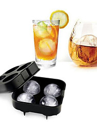 Whiskey Cocktail Ice Cube Tray 4 Large Mold Silicone Ice Ball Maker Large Ice Cube Molds Make