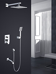 Modern Style Basic Wall Mounted Rain Shower Handshower Included with Shower Faucet Set