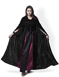 Medieval Black Cloak Lined Black Satin Halloween Robe Renaissance Wedding Velvet Cape Cosplay Cape Wicca SCA LOTR LARP Goth