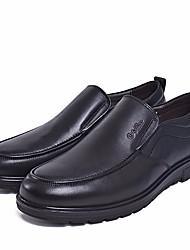 Men's Sneakers Comfort Cowhide Spring Casual Comfort Black Flat