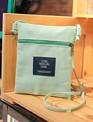 Femme Mobile Bag Phone Toile Toutes les Saisons Décontracté Fermeture Orange Rose Claire Jaune Vert foncé Vert