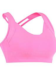 Mulheres Top Cropped de Corrida Fitness, Corrida e Yoga Sutiã Esportivo para Ioga Correr Exercício e Atividade Física Rosa Roxo