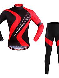 WOSAWE Велокофты и лосины Универсальные Длинный рукав Велоспорт Наборы одеждыВлагоотводящие Быстро сохнет Воздухопроницаемость Со