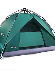 3-4 persons Tent Double Automatic Tent One Room Camping Tent 2000-3000 mm Glass fiber Terylene Waterproof Rain-Proof Dust Proof Foldable-