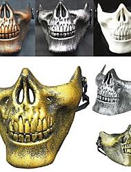 горячий! Костюм Хэллоуин airsoft череп мотоцикл череп половина лицо cs военный скелет воин 3 поколения маски маскарад