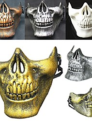 Hot! Costume Halloween Airsoft Skull Motorcycle  Skull Half Face Cs Military Skeleton Warrior 3 Generations Masquerade Mask