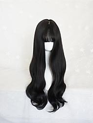 Punk Lolita Black Long Curls Lolita Wig