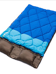 2.4Kg Outdoor Double Sleeping Bag Envelope Type Thickening And Widening Sleeping Bag for Camping