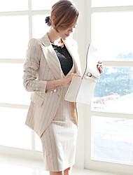 Chandail Jupe Costumes Femme,Rayure Travail Hiver Turtlenecks