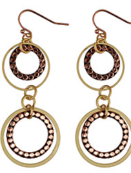 Drop Earrings Women's Vintage Hollow Out Circle Multilayer Earrings For Women Party  Daily Movie Jewelry