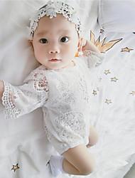 Une-Pièce bébé Mode Imprimé Tricot roman 100% Coton Eté Manches longues