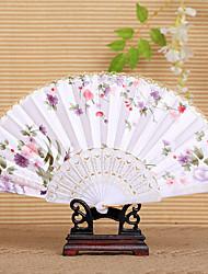 Pretty Floral Waved Hand Fan (Set of 4)