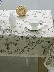 World Map Printed Cotton And Linen Table Cloths 60*60cm