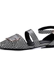 Women's Sandals Gladiator Comfort Leatherette Summer Casual Dress Gladiator Comfort Flat Heel Black White Flat