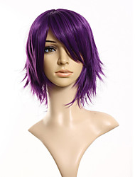 30cm Synthetic Cosplay Short Wig Purple  Costume Party Dress Wig for Women Men