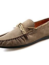 Men's Boat Shoes Walking Comfort Suede Spring Fall Casual Flat Heel Black Dark Blue Khaki 2in-2 3/4in