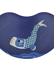 EXCO MSP020  Whale Fly Anti-Slip Bottom Cloth Can Be Washed 10.5 * 7 * 2CM Mouse Pad Wrist