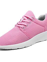 Femme Chaussures d'Athlétisme Confort Tulle Printemps Automne Décontracté Marche Confort Lacet Talon Plat Blanc Noir Rose Vert clair5 à 7