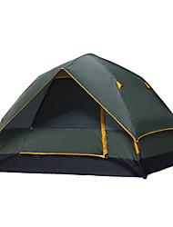 3-4 Pessoas Tenda Duplo Barraca de acampamento Tenda Automática 1000-1500 mm para Acampar e Caminhar Caça Pesca Alpinismo Campismo Viajar-