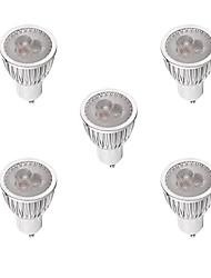 3W LED Spotlight GU10 3 High Power LED 260-300 lm Warm White/White Dimmable AC220-240V 5Pcs