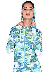 Femme Couple La navigation de plaisance Résistant aux ultraviolets Elasthanne Térylène Tenue de plongée Manches LonguesTee-shirts