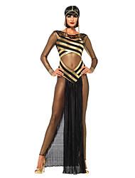 Costumes de Cosplay Costume de Soirée Reine Conte de Fée Déesse Cosyumes Romains Cosplay Fête / Célébration Déguisement d'Halloween Noir