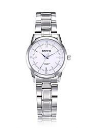 jewelora Mulheres Relógio Elegante Relógio de Moda Relógio de Pulso Chinês Quartzo Impermeável Resistente ao Choque Mostrador Grande Aço