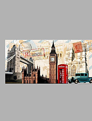 IARTS® Abstract Modern London Famous Tourist Spot Places Oil Painting On Canvas with Stretched Frame Wall Art For Home Decoration Ready To Hang