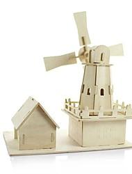Puzzles Kit de Bricolage Blocs de Construction Jouets DIY  Moulin à vent