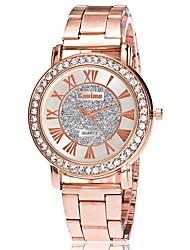 Mujer Reloj de Vestir Reloj de Moda Reloj de Pulsera Reloj creativo único Reloj Casual Simulado Diamante Reloj Chino Cuarzo Aleación Banda
