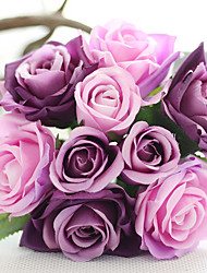 10 inch Large Size 12 Heads Silk Polyester Roses Tabletop Flower Artificial Flowers