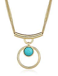 Femme Collier court /Ras-du-cou Pendentif de collier Colliers Déclaration Forme Géométrique Alliage de métal RésineBasique Pendant