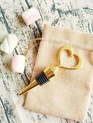 Heart of Gold Bottle Opener in Burlap Bag Beter Gifts® Indian DIY Groomsman / Bachelor Wedding Favors