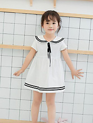 Girl's Color Block Dress,Others Long Sleeve