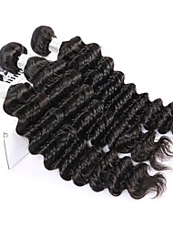 Natural Color Hair Weaves Peruvian Texture Deep Wave 12 Months Three-piece Suit hair weaves