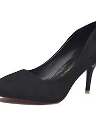 Damen High Heels Pumps Mikrofaser Sommer Normal Kleid Walking Pumps Stöckelabsatz Schwarz Grau Rot Rosa 12 cm & mehr
