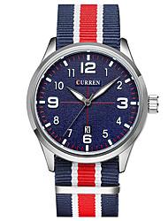 CURREN Men's Sport Watch Fashion  Wristwatch Unique Creative Cool Watches Casual Quartz Fabric Band Luxury Business Clock