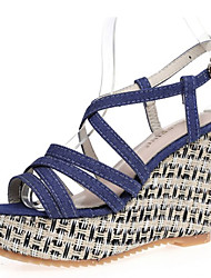 Women's Sandals Novelty Gladiator Creepers PU Spring Summer Wedding Casual Outdoor Dress Party & Evening Novelty Gladiator Creepers Buckle