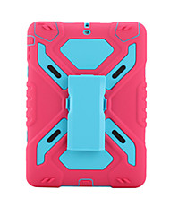 For Apple iPad AirShockproof with Stand Full Body Case Solid Color Hard PC With Silicone