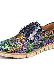 Для мужчин Туфли на шнуровке Удобная обувь Материал на заказ клиента Весна Осень Повседневные Для вечеринки / ужина Животные принтыНа