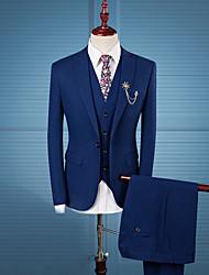 Costume / Tailleur Homme,Rayé Décontracté / Quotidien Travail Grandes Tailles simple Automne Hiver Manches longues Col Rond Claudine