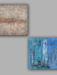 Peint à la main Abstrait Cool Mode Deux Panneaux Toile Peinture à l'huile Hang-peint For Décoration d'intérieur